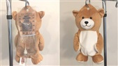 Young Girl Afraid of IVs. Invents Teddy Bear to Disguise Them