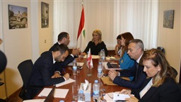 Coordination meeting between Chidiac, Afiouni, Premiership Bureau delegation on digital transformation project