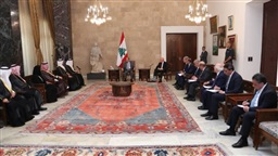 Aoun meets Saudi Shura Council delegation
