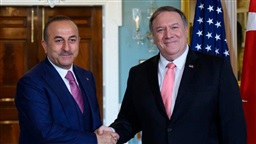 Turkish foreign minister discusses defense, Syria with Pompeo