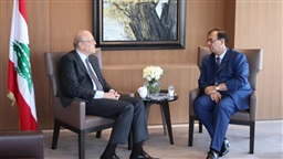 Mikati talks bilateral relations with Foucher