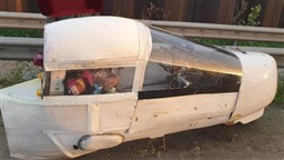 Police Stop Man Driving Homemade Balsa Wood Car on Busy Motorway
