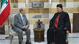 Rahi visits Aoun in Beiteddine, hails president's efforts to preserve historical reconciliation