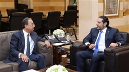 Hariri receives Abu Faour, Bteish and Ambassador of Sri Lanka