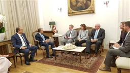 Bassil receives US Senate's Olson