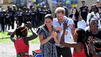 UK's Harry and Meghan in South Africa on first tour since baby's birth
