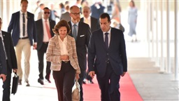 Swedish Queen Silvia arrives in Beirut