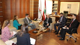 Moucharafieh meets French Foreign Ministry delegation