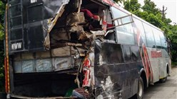Eighteen killed in India as truck slams into overcrowded bus