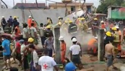 One dead, Myanmar firefighters rescue 3, after construction site accident