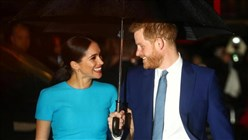 Britain's Prince Harry and wife Meghan begin farewell royal events