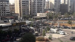 Heavy displacement of people in the area of clashes