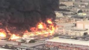 Large fire in a market in Ajman, UAE: local media