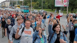 Belarus opposition leader urges new protests as pressure on Lukashenko grows