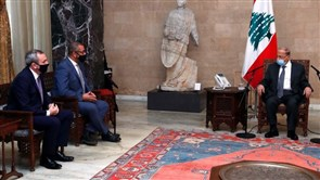 Aoun meets British Minister for Middle East and North African Affairs