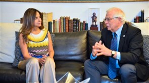 Akar reviews with Borrell prevailing situation, crisis of the displaced