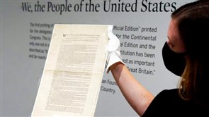 Sotheby's to Auction Rare First Printing of U.S. Constitution
