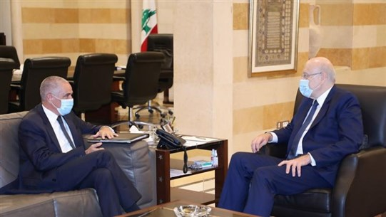 Ambassador Tarraf tweets: I agreed with Mikati on urgency of initiating economic reforms and preparing for 2022 elections