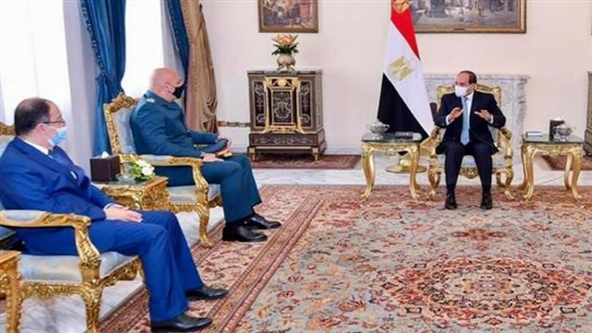 Lebanese Army Chief discusses with Egyptian President means to boost ties, support LAF