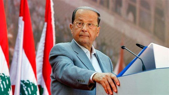 """President Aoun before a delegation from the """"Islamic National Conference"""": I hope that the Palestinian cause becomes the main cause of Arabs again"""