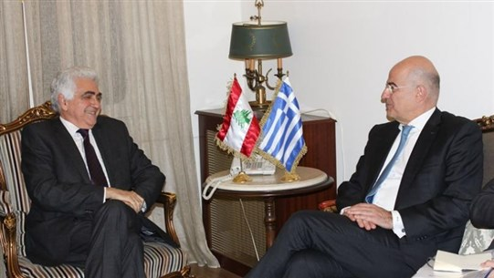 Hitti welcomes Greek counterpart, listens to Greece's experience in overcoming difficult circumstances