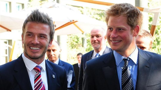 """David Beckham Says He Is """"Proud"""" of Prince Harry's Decision to Step Down From Royal Family"""