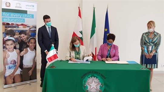 Italy to rehab additional 7 Lebanese public schools for improved learning