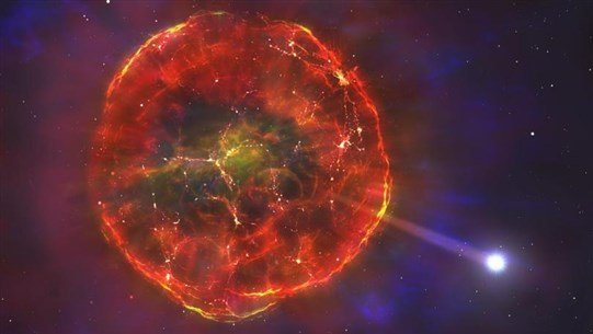 Supernova Seen Hurtling Through Our Galaxy After Thermonuclear Explosion