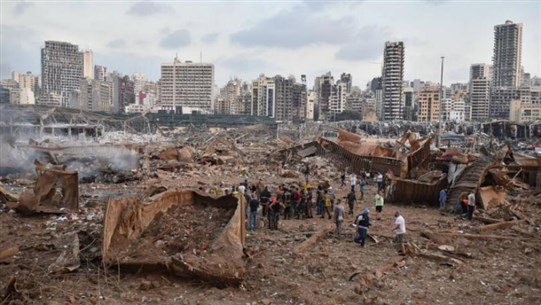 Shocking Video From the Sky Shows What Remains of Beirut Port