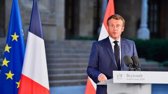 Macron Announces International Fundraising Conference for Lebanon to Be Held Soon
