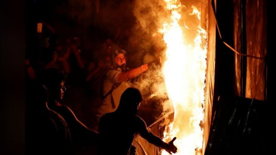 Lebanese Call for Downfall of President, Other Officials Over Beirut Blast