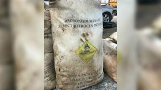Photo: Container filled with ammonium nitrate found at Beirut port