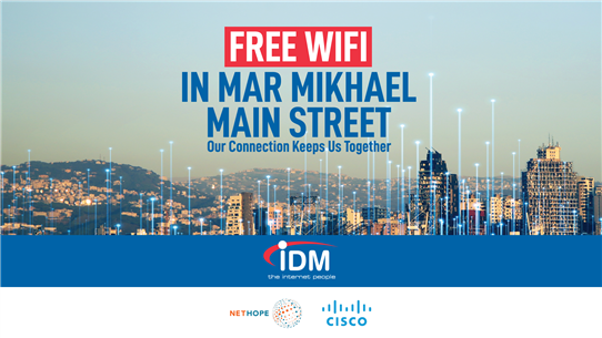 IDM joins forces with Cisco and Nethope to allow Beirut to Stay Connected