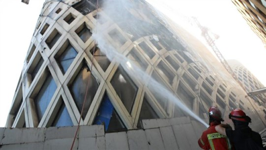 New Fire Rips Through Zaha Hadid Building in Beirut