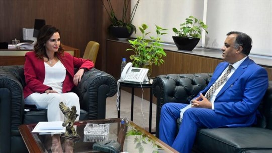 Abdel Samad, Indian Ambassador discuss means of cooperation
