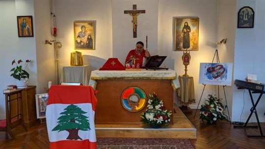 Mass in France in memory of Lebanon's fallen martyrs on Independence Day