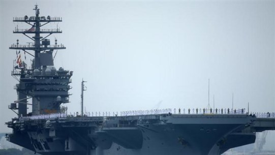 U.S. aircraft carrier deploys to Gulf, Navy says unrelated to 'specific threats'
