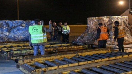 UAE medical and food aid arrives in Damascus