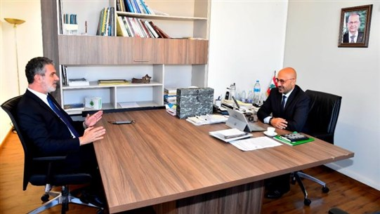 Yassin discusses with Nassar means to activate eco-tourism, nature reserves' visits