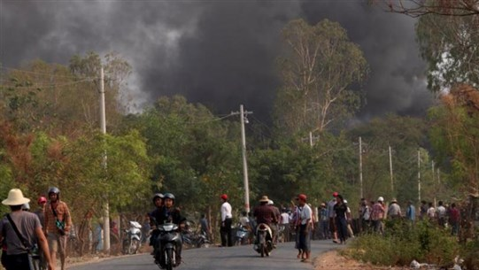 Myanmar junta says protests are dwindling as at least 10 reported killed by troops