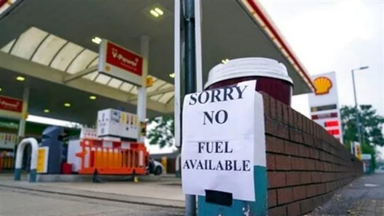 Pumps run dry at gas stations in Britain